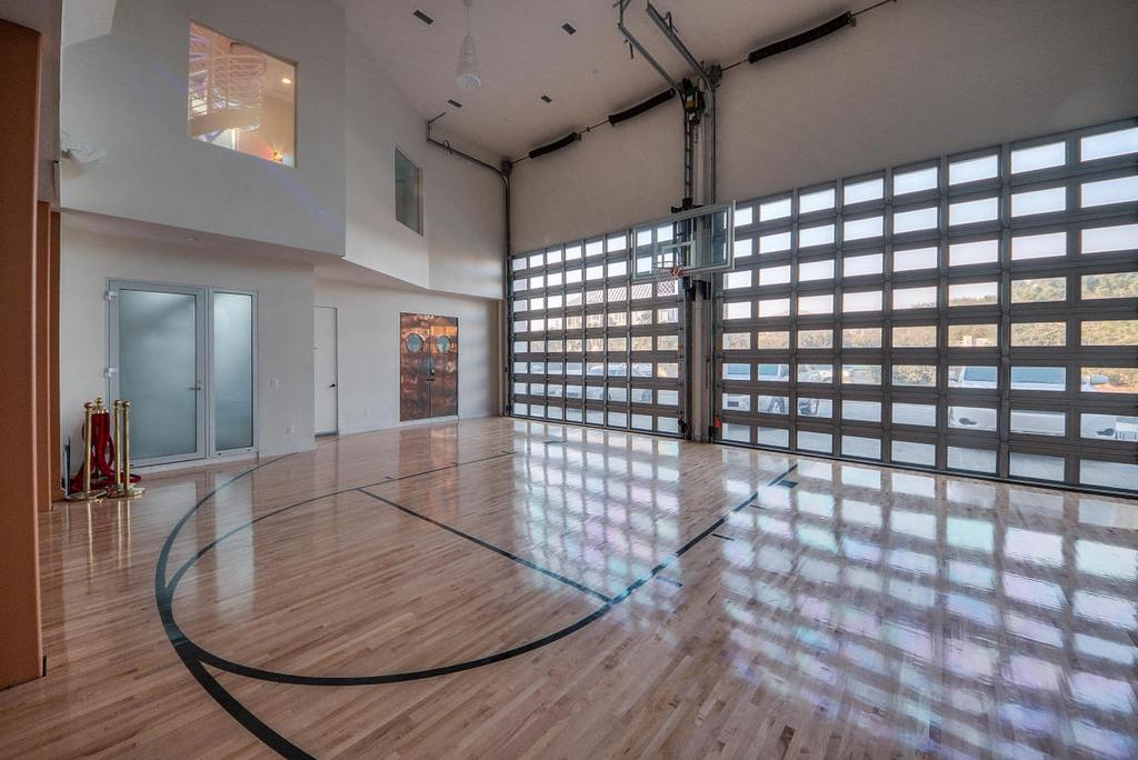 13 million dollar beachfront mansion for sale for Custom indoor basketball court