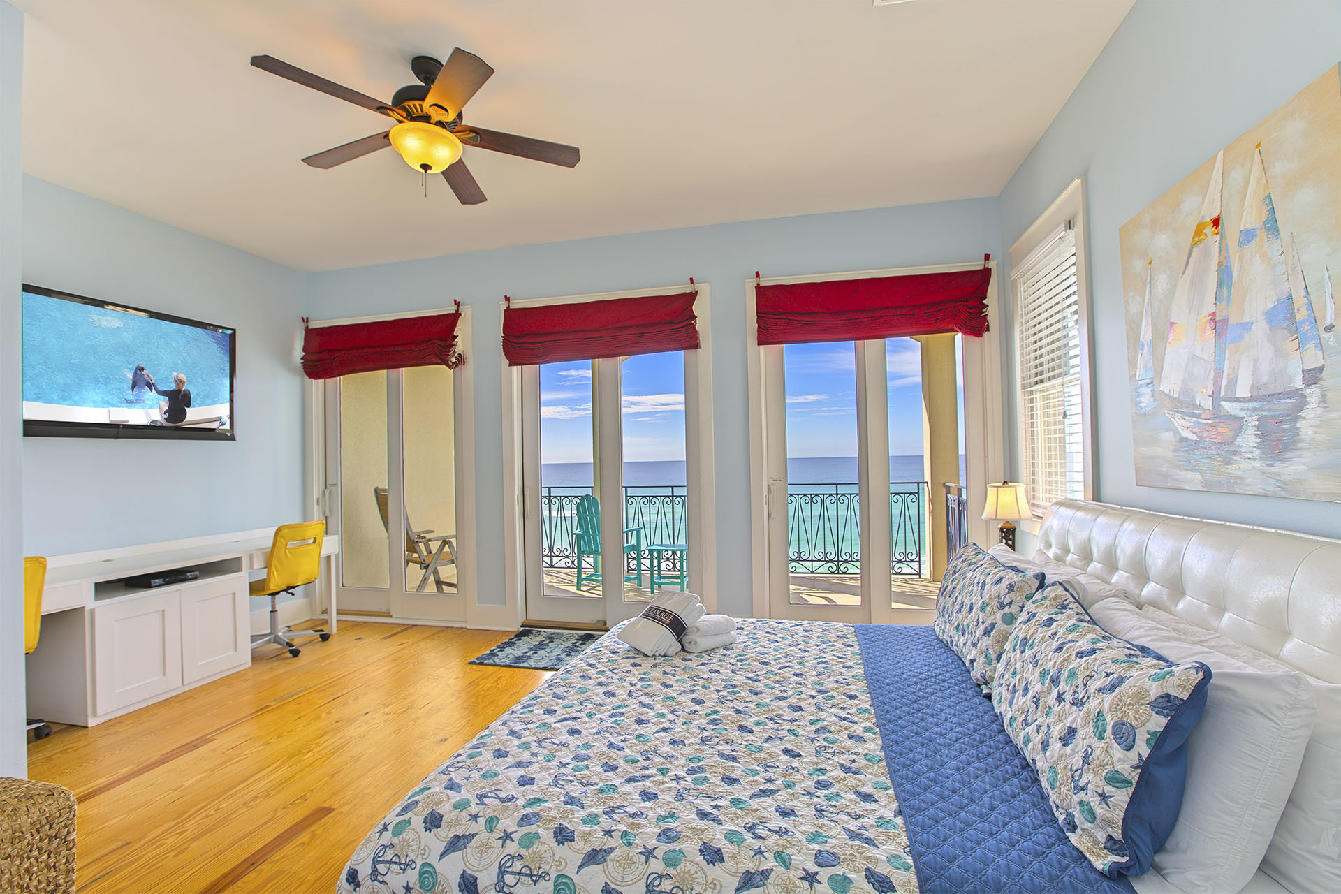 Beachfront Master Bedroom Destin