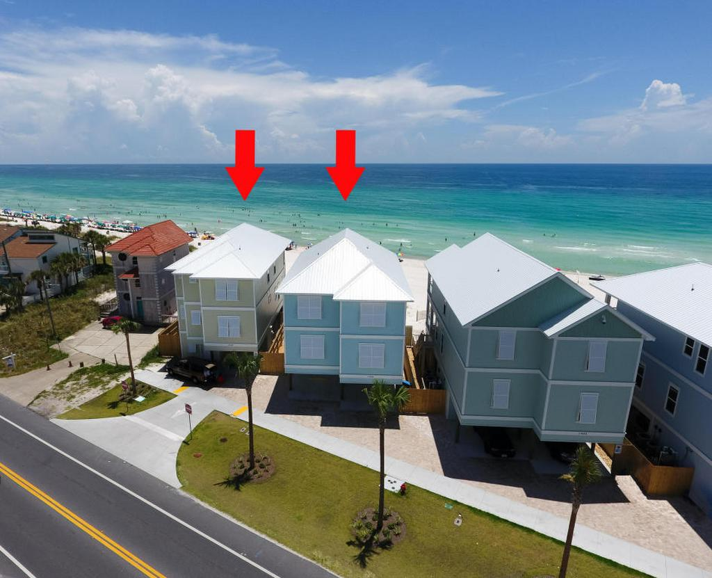 2 neighboring pcb beachfront homes for sale rh destinrealestatesales com Panama City Beach MLS Houses in Panama City Panama