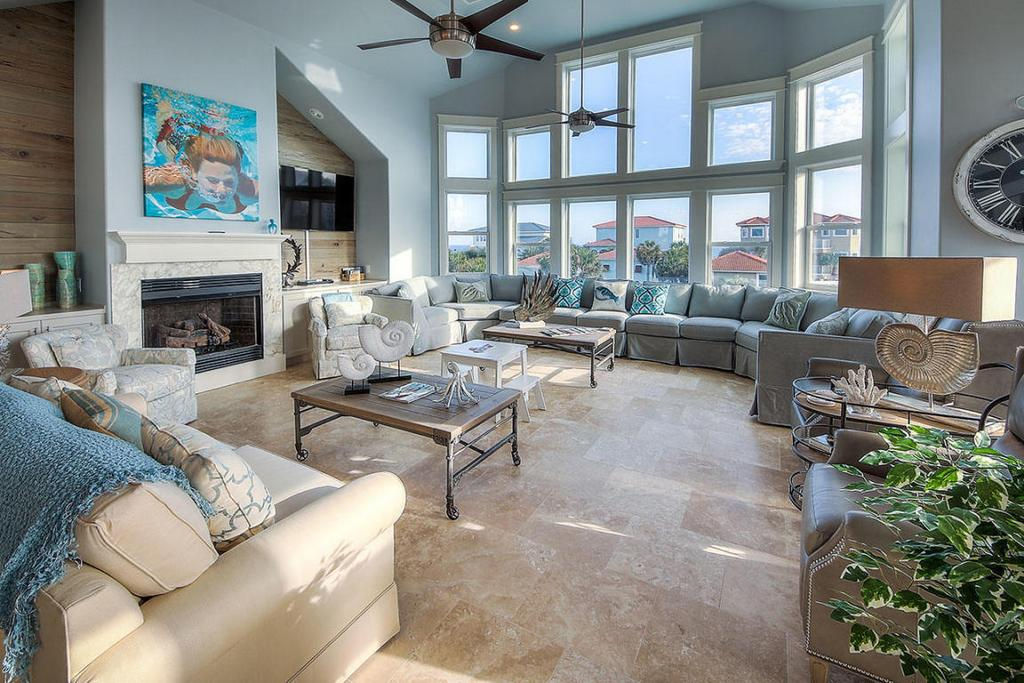 Crystal Beach Living Area