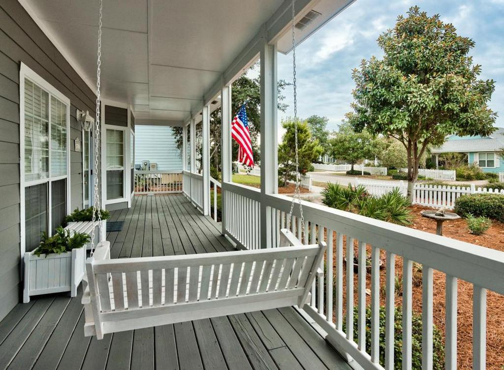 Crystal Beach Porch Swing