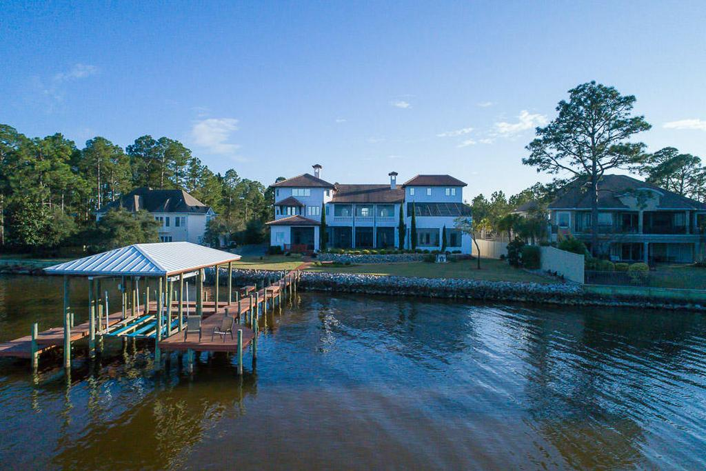 Santa Rosa Beach Mansion Waterfront Boat Dock
